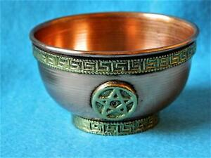 Copper Offering Bowls with Pentagram designs/Witchcraft/Wicca/Magic/Pagan