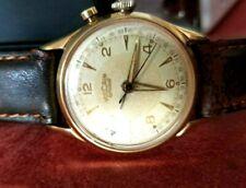 Handsome Man's Vulcain Alarm Wrist Watch,  Cricket Grand Prix 120 Mvt. Ca.1950's