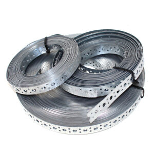 25mm STRAPPING FIXING BAND GALVANISED STEEL BANDING - YOU CHOOSE REQUIRED LENGTH