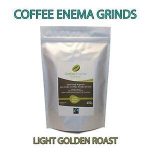 COFFEE ENEMA GRINDS LIGHT GOLDEN ROAST GERSON AIR ROASTED ORGANIC FAIRTRADE 400g