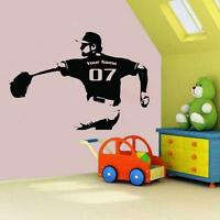 Personalized Pitcher Vinyl Wall Decal Sticker Baseball Boys Room Decor Mit