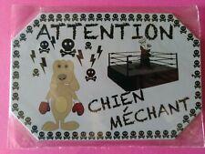 PLAQUE METAL 15*10 CM - ATTENTION CHIEN MECHANT - NEUF