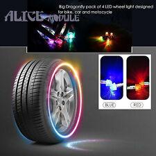 4pcs/set LED Car Bike Wheel Tyre Decor Bulb Light Tire Air Dust Stem Caps B2AM