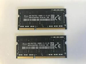 Hynix 8GB 2x4GB Memory DDR3L PC3L-12800S HMT451S6AFR8A-PB iMac A1418/A1419 APPLE