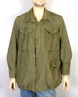 vtg 50s Korean War Era US Army M-1951 Field Jacket TDS Patch Staff Support M REG