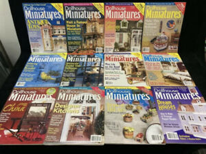 DOLLHOUSE MINIATURES MAGAZINE, LOT OF 12, 1998 COMPLETE YEAR