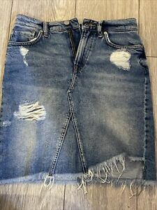 All Saints Denim Skirt Size 8 Used In good condition