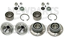 For VW Golf Jetta Beetle Complete Front & Rear Wheel Hubs w/ Bearings Kit