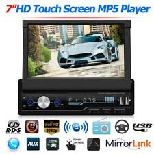 7in Touch Screen 1DIN Car Stereo MP5 Player RDS FM AM Radio Bluetooth USB AUX
