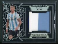 2019-20 MARCOS ROJO 41/65 JERSEY PATCH PANINI OBSIDIAN VOLCANIC MATERIAL
