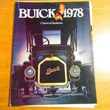 BUICK Regal Century Skyhawk Skylark Riviera LeSabre Electra USA Brochure 1978