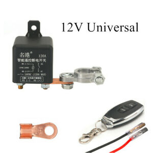 12V Wireless Remote Control Car Battery Disconnect Power Master Switch Isolator