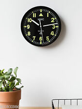 "MWC Retro G10 Pattern Military Wall Clock 9"" / 22.5cm with Silent Tick Movement"