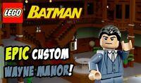 Custom Lego Wayne Manor -- Lego Digital Designer File Only (LXF) -- Instructions