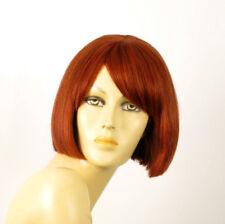 perruque femme 100% cheveux naturel courte cuivré intense ref MAIA 130