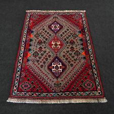Orient Teppich Grau 162 x 116 cm Rot Perserteppich Handgeknüpft Carpet Rug Tapis