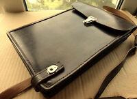 Vintage Officer Military Leather Tablet Bag USSR 1979