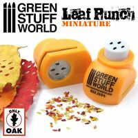 Miniature Leaf Punch - ORANGE - Tool to make Oak LEAVES - dioramas scenery