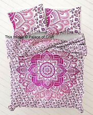 Indian Cotton Ombre Mandala Duvet Cover Blanket Doona Cover Quilt Cover Pillows