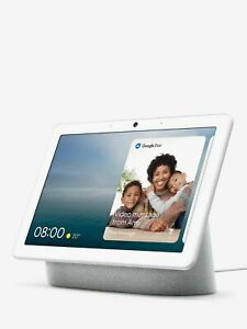 """Google Nest Home Hub Max Smart Home Voice Activated Speaker w 10"""" Screen Chalk"""