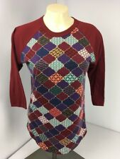 Lularoe Randy Xs Unicorn Trellis Maroon Purple Moraccan Baseball Style Top Shirt