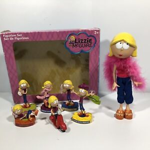 Disney Store Lizzie McGuire 6 Figurine Set Plus Doll Figure 2007