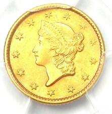 1853 Liberty Gold Dollar Coin G$1 - Certified PCGS AU58 - Rare Coin!