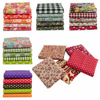 7x Mixed Cotton Fabric Material Joblot Value Bundle Scraps Offcuts Quilting Late