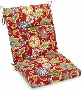 """Blazing Needle Square Seat/Back Chair Cushion 18""""x38"""" BALMORAL OPAL MADE IN USA"""