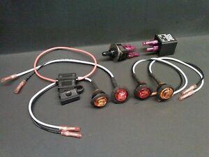 DIY Turn Signal Kit - LED Lights Toggle Switch Fuse w/ Instructions