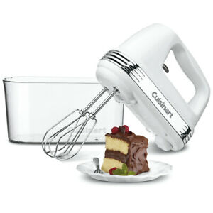 Cuisinart HM-90S Power Advantage PLUS 9-Speed Hand Mixer White with Storage Case