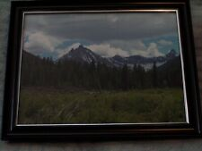 photo Mountain Valley Forest with Frame 8 x 10 size