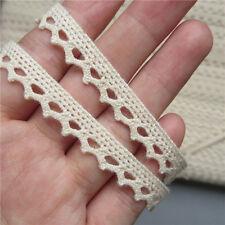 3yd Vintage Style Beige Cotton Lace Trim Bridal Wedding Ribbon Craft Crochet DIY