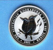 1 A-$ Kookaburra 2001 Silber st 1 Unze SELTEN
