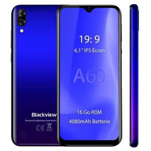 """Blackview A60 Smartphone Debloqué 2+16G 6,1""""13MP 4080mAh Téléphone portable Bleu"""