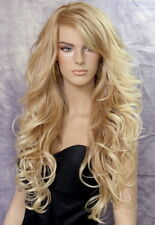 Long Blonde Mix Wig What a Bombshell! Goregeous wavy Heat Safe  WBVA 27/613