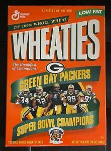 1997 SUPER BOWL XXXI CHAMPIONS GREEN BAY PACKERS EMPTY WHEATIES BOX