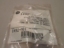 Allen Bradley 1492-N81 Blank Marking Strips Lot of 19 Packs of 10 each.