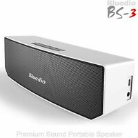 Bluedio BS-3 Bluetooth Wireless Stereo 3D Sound Subwoofer Portable Speaker, Mic
