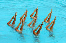 Framed Print - Olympic Synchronized Swimmers at Practice (Picture Swimming Art)