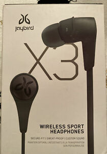 Jaybird X3 Wireless Sport Headphones - Blackout - NEW!