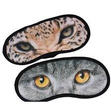 Eye Mask Portable Cat Eye Travel Sleep Lightproof Mask Blindfold Nap Cover VeCj