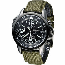 Seiko Prospex Solar Military Alarm Chronograph Men's Watch SSC295P1
