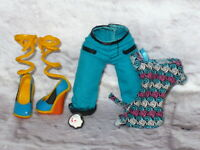 Mattel Monster High Doll CLOTHING LOT CLOTHES Shoes Accessories Lagoona Blue
