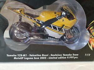RARE MINICHAMPS VALENTINO ROSSI YAMAHA YZR M1 GAULOISES MOTOGP LAGUNA SECA 2005