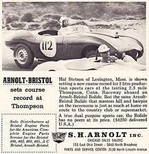 1958 ARNOLT-BRISTOL BOLIDE RACING  ~  NICE ORIGINAL SMALLER PRINT AD