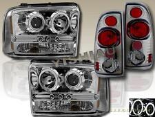 2005-2007 FORD F250 F350 LED CCFL PROJECTOR HEADLIGHTS + TAIL LIGHT SMOKE