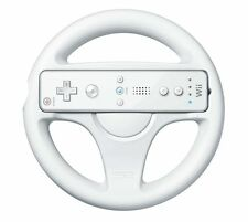 Kart Racing Game Steering Wheel Controller compatible with Nintendo Wii (White)