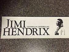 Vintage Jimi Hendrix Bumper Sticker Buy One get One free!