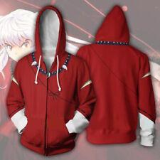 HOT Japanese anime Inuyasha hoodie Sweatshirt Cosplay Costume zip up coat jacket